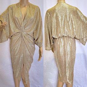 Gold Kimono dress